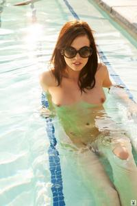Bethanie Badertscher Naked In The Pool